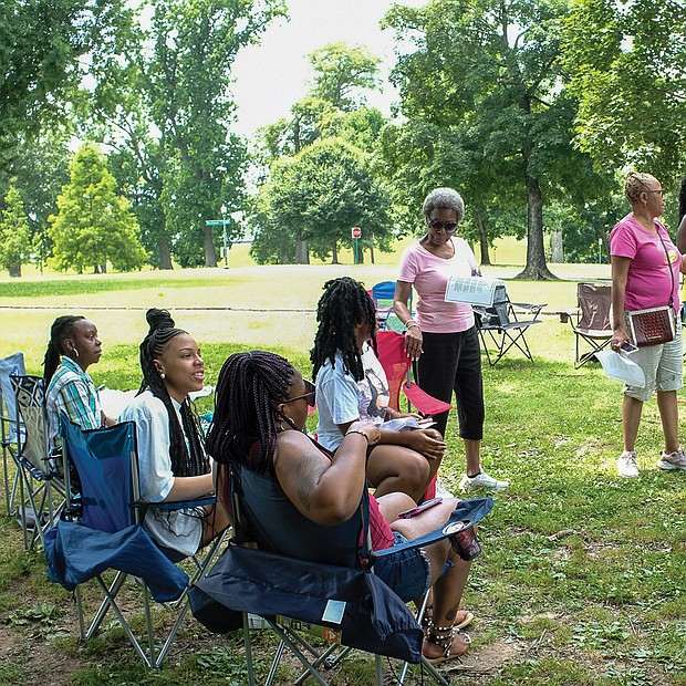 Daughters of the King Soiree last Saturday in Byrd Park/The group meets monthly in various locations and is a ministry and mentorship program for young women sponsored by The Church of God in Richmond located in South Side.