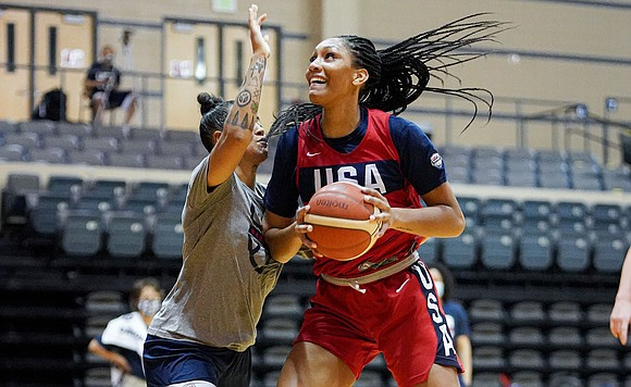 The U.S. women's Olympic basketball team scored a much needed 93–62 win over Nigeria in its final exhibition game prior ...