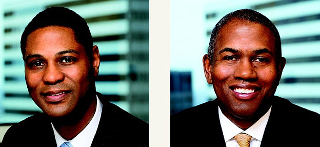 Channing Capital co-founders Rodney B. Herenton and Wendell E. Mackey