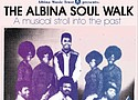Promotional materials announce the release of the Albina Soul Walk, self-guided audio tour exploring Albina's musical culture of the 1960s-1980s. Presented by Albina Music Trust and available on a mobile application, the tour features rare local music interspersed with oral history accounts from musicians of the time.