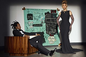 """Beyoncé is the first Black woman to wear the iconic 128.54 carat Tiffany Diamond. Beyoncé and her husband Jay-Z are the faces of Tiffany & Co's new """"About Love"""" campaign. Mandatory Credit:Mason Poole"""