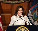 Governor Kathy Hochul holds a ceremonial swearing-in ceremony