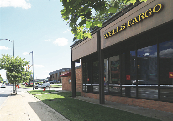 The Wells Fargo Bank branch at 1800 Chamberlayne Ave. in North Side.