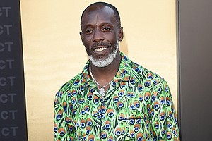"""Michael K. Williams, pictured here on August 8, in Los Angeles, best known for his role as Omar Little on HBO's """"The Wire,"""" has reportedly died at he age of 54. Mandatory Credit:Axelle/Bauer-Griffin/FilmMagic/Getty Images"""