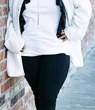 Fashion Designer Indrea Gordon, founder, Quad Clothing Company and co-producer of Fashion Meets Food Experience in Atlanta. PRNewsFoto/Quad Clothing Company
