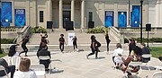 Middle school students with the Binford Dance Company perform during the event.