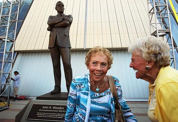 Nan Wooden, daughter of legendary UCLA men's basketball coach John Wooden and a dedicated supporter of Bruin athletics...