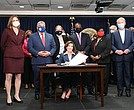 On Friday, flanked by Lieutenant Governor Brian Benjamin, progressive advocates and state Democratic leaders, New York Governor Kathy Hochul signed The Less Is More Act, which will end the practice of sending people to jail as they await hearings over alleged technical parole violations, such as missed curfews and marijuana use. The signing of the decarceration bill, which is expected to release several hundred detainees from city jails, comes after weeks of public outcry over a string of deaths at Rikers Island.
