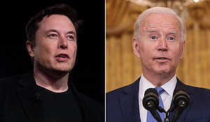 Elon Musk mocked President Joe Biden after Saturday's successful splashdown of SpaceX's Inspiration4 flight carried four tourists on a three-day orbital mission. Mandatory Credit:AP/Getty Images