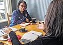 Annette Majekodunmi, a parent and community engagement supervisor at POIC + Rosemary Anderson High School works side by side with parents in a Community Healing Initiative.