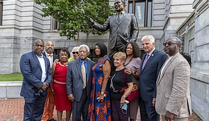 Kenneth Gibson statue unveiling at Newark City Hall