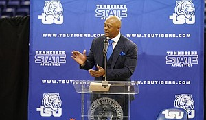 Former All-Pro NFL running back Eddie George is in his first season as the head football coach at HBCU Tennessee State