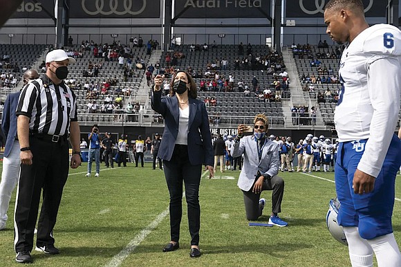 Even the moral support of Vice President Kamala Harris couldn't save her alma mater, Howard University, last Saturday in Washington, ...