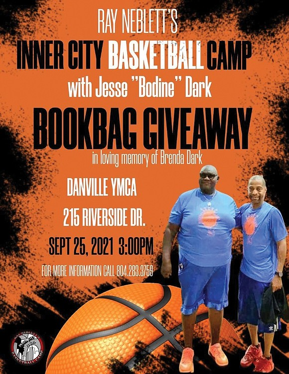 """A couple of Richmond roundball legends, Ray Neblett and Jesse """"Bodine"""" Dark, are teaming up to serve Danville area youths."""