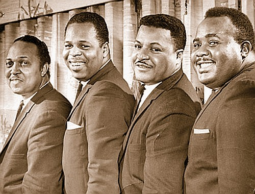 """A historical photo shows Portland's """"Sweet Baby"""" James Benton (second from left) as a member of the Del-Tones with Eddit Fontaine (from left), Emmett Williams and Dave English. The late Blues vocalist will be honored with a heritage award at this year's Oregon Musical Hall of Fame Induction Ceremony. Photo courtesy sweetbabyjamesmusic.com."""