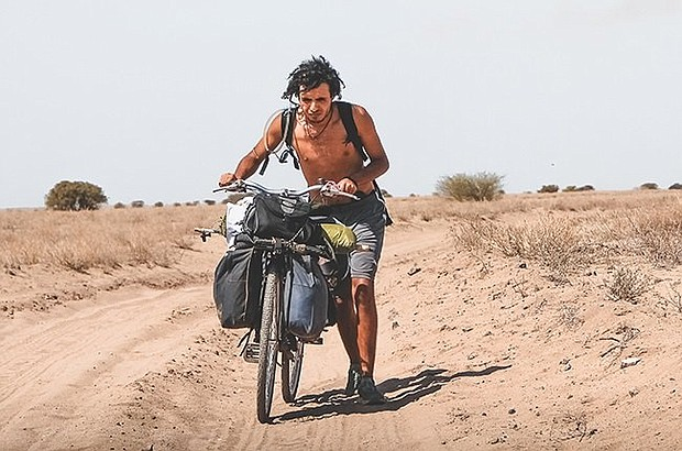 """Othmane Zolati on his journey through Africa in """"Africa and I.'  Photo courtesy Showmax."""