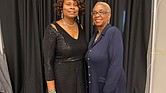 Virginia Union University alumna Wanda E. Gill, left, and An'Jou White, president of the VUU National Alumni Association, pause for a photo at a homecoming event earlier this month.
