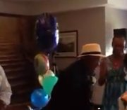 Vance Heath gets up and dances at his 100th birthday celebration.