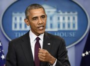 President Obama delivers a statement on the shooting at a community college in Roseburg, Oregon. October 1, 2015.