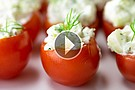Want a quick appetizer to snack on, try a stuffed Cherry Tomato