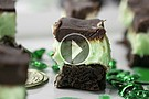 Lucky Mint Brownies Made To Perfection