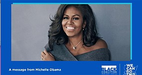 The U.S Department of Health and Human Services (HHS)'s COVID-19 Public Education Campaign haas the goal to encourage more Black Americans to get vaccinated.     Michelle Obama encouraging Black Americans to get vaccinated.