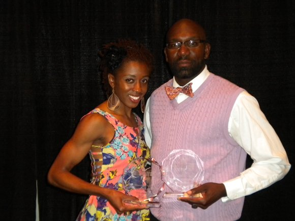 Virginia State University's Samantha Edwards and head coach Jason-Lamont Jackson were recognized by the U.S....