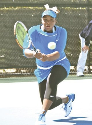 Rising American junior tennis players Taylor Townsend of Stockbridge, Ga., captured the girls' 18s singles...