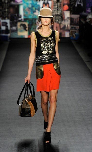 What a terrific turnout! With a vibrant multicolor, multiprint backdrop, Tracy Reese's fall 2012 fashion...