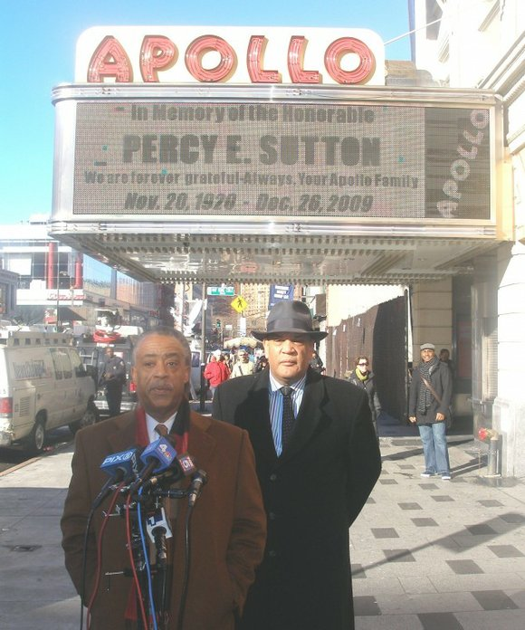 **UPDATE** Percy Sutton will be funeralized at the Riverside Church, 490 Riverside Drive, New York,...