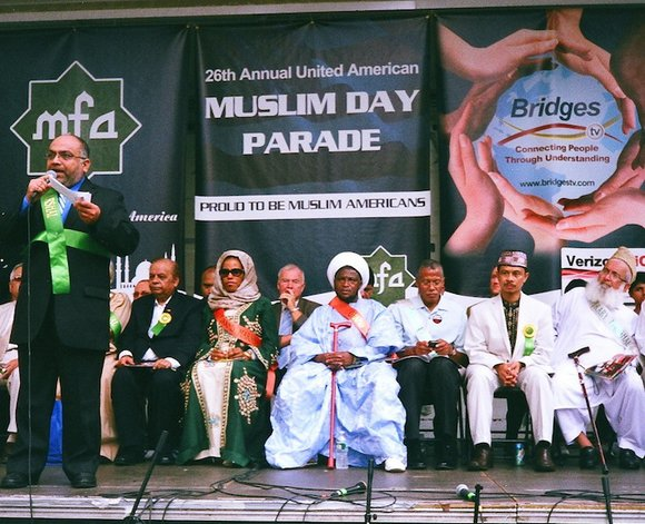 The 26th United American Muslim Day Parade, held on Sept. 25 on Madison Avenue between...