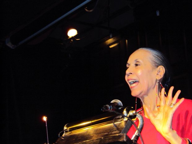 Carmen de Lavallade, dancer/choreographer/actor/educator, entertaining at her 80th birthday celebration (Misani photos)