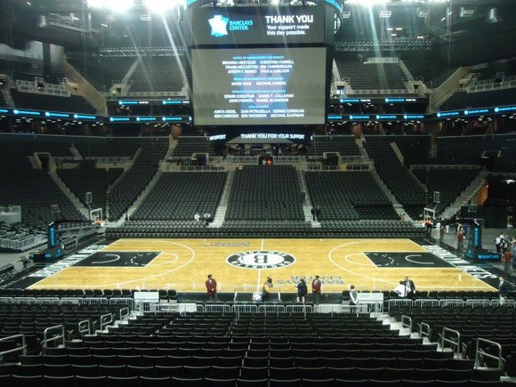 """It's here, and the Barclays Center isn't going anywhere. """"Mr. Mayor, you should be proud..."""