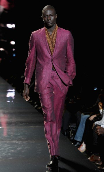 Right from the start, b Michael's spring 2013 collection had the audience on the edge...