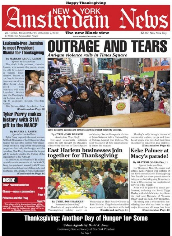 Outraged community activists across the city brought the struggles of inner-city violence to Times Square...