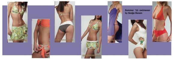 Suddenly, it's summer! And new beachwear from Brazilian fashion designer Sonjja Baram is slimming, stylish...