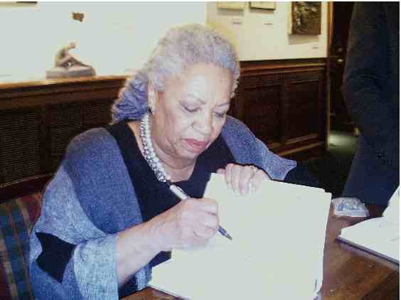 """Nobel laureate Toni Morrison, a pioneer and reigning giant of modern literature whose imaginative power in """"Beloved,"""" ''Song of Solomon"""" ..."""