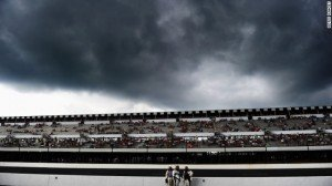 A lightning strike killed a NASCAR fan and injured nine others in a parking lot outside Pocono Raceway after torrential ...