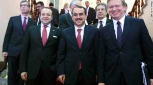 """[caption id=""""attachment_72574"""" align=""""alignnone"""" width=""""300"""" caption=""""Turkey's Justice Minister Sadullah Ergin (pictured in the center) in Ankara on May 17, 2012. Ergin ..."""
